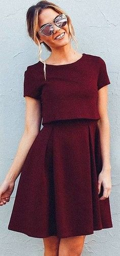 #fall #executive #peonies #outfits |  Burgundy 'Well Played' Dress
