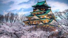 Osaka Castle, Osaka, Japan.