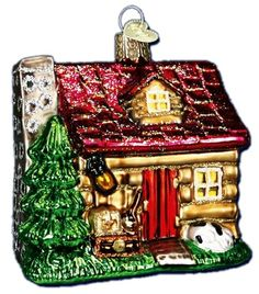 Lake Cabin | Old World Christmas Glass Ornaments
