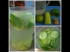 Receita De Agua Sass Para Emagrecer (Pepino, Gengibre, Limão e Hortelã)