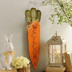 Burlap Carrot Door Hanger | Kirklands