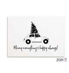 Zoedt Kerstkaart Merry everything & Happy always