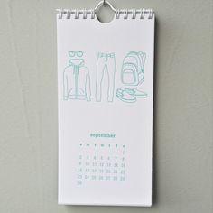 backpack calendar—everything looks better when letterpressed