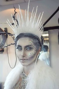 [ Halloween Makeup : Illustration Description Ice Queen Crown in Clothes, Shoes & Accessories, Fancy Dress & Period Costume, Accessories Costume Halloween, Halloween Inspo, Halloween Make Up, Witch Costumes, Halloween Fancy Dress, Princess Halloween Costumes, White Contacts Halloween, White Witch Costume, Zombie Halloween