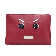 ed444949a476 Fendi Applique Face Clutch - modaselle Face Design