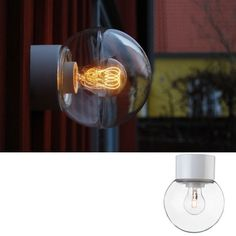 Ifö Classic Glob Vegg-/Taklampe Hvit/Klart Glass Sorting, Light Bulb, Globe, New Homes, Lighting, Classic, Design, Home Decor, Kitchen