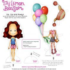 Lily Lemon Blossom Up, Up, and Away Paper Doll activity. It's a FREE printable! Yay!