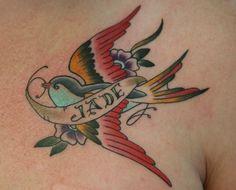 Slicknick. Rotterdam. chest. swallow. banner. traditional. bird