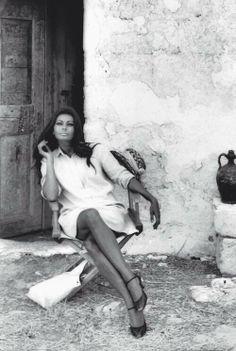Sophia Loren en la casa de campo...