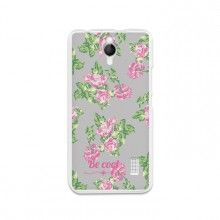 Capa Gel Huawei Ascend Y635 BeCool Flowers Collection Vintage Gray