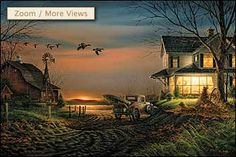 "Terry Redlin Handsigned and Numbered Limited Edition AP Print:""Special Memories"" Artist: Terry redlin Title: Special Memories Image Size: x (Framed Size: x with a walnut two-tone moulding. Wildlife Paintings, Wildlife Art, Terry Redlin, Nostalgic Art, Farm Pictures, Retro Art, The Ranch, Print Artist, Watercolor Illustration"