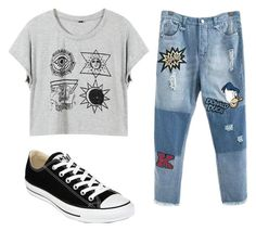 """Untitled #10"" by alanna-perez-linares on Polyvore featuring Converse"