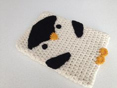 Crochet Penguin IPad Case by peanutbutterdynamite on Etsy, $30.00