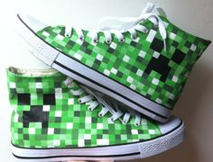 New Products : Hand Painted Canvas Shoes, Custom Canvas Sneakers Shoes, Painted Shoes Oline! Converse Shop, Converse Design, Custom Converse, Converse Sneakers, Custom Shoes, Painted Canvas Shoes, Painted Sneakers, Hand Painted Shoes, Minecraft Shoes