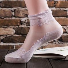 Women's Socks & Hosiery Efficient Sexy Lace Glitter Fishnet Socks Transparent Stretch Elasticity Funny Ankle Glass Sock Net Yarn Women Silk Socks Calcetines Mujer Sale Overall Discount 50-70%