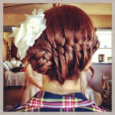 Fishtail braid up do I did for the bride.