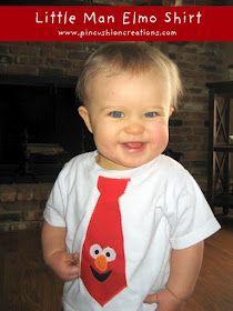 Little Man Elmo Shirt - Caleb will love this!!