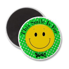 Need a cute inexpensive gift to lift someone up? This #smiley #magnet will do the trick!