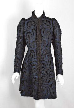 Wool coat by Pingat, 1890s.