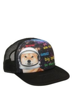 Doge In Space Trucker Hat Cool Hats 11d6aef4dedf