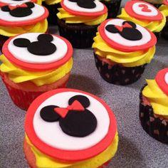Mickey & Minnie Birthday cupcakes