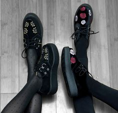 Our new Sun Stud Creepers  amp  Black Velvet Embroidered Rose Creepers make  the perfect pair e1d33764b5