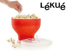 Mad & Drikke - Lékué Popcorn Mikroskål  , Ligesom grydepoppede, men i mikroen!