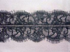 Купить Кружево черное и белое(имитация французского кружева) 8см - чёрно-белый, широкое кружево