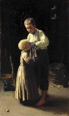 Jean Béraud (1849 – 1935, French), The Blue Handkerchief