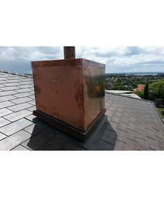Very cool copper flashed chimney on the roof! Auckland, Copper, Cool Stuff, Gallery, Outdoor Decor, Inspiration, Home Decor, Biblical Inspiration, Decoration Home