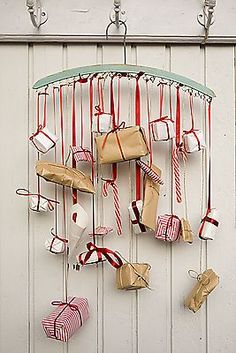 Advent Calendar on a hanger, different and creative!