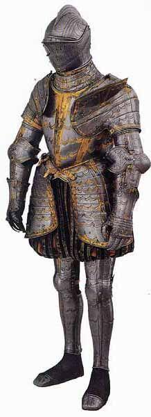 17th Century armour, possibly Italian, Milan