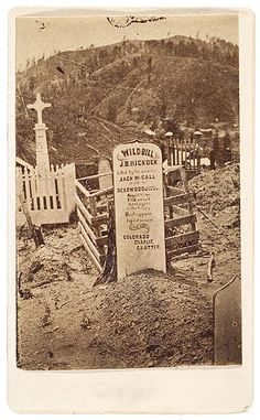 Wild Bill Hickok's First Grave at Ingleside, Dakota Territory.  They should have left this one alone...