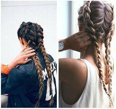 The Best Hair Braid Styles - FashionActivation Pretty Hairstyles, Girl Hairstyles, Braided Hairstyles, Braid Styles, Short Hair Styles, Braids Step By Step, Cabello Hair, Boxer Braids, Wie Macht Man
