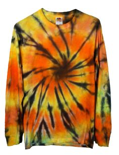 Tie Dye T-Shirt Tiger Print Long Sleeve  by RainbowEffectsTieDye