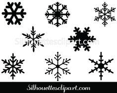 Snowflakes Vector Graphics - Silhouette Clip Art