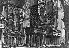 Giovanni Battista Piranesi, Fantasy Composition Featuring the…  #architecture #drawing Pinned by www.modlar.com