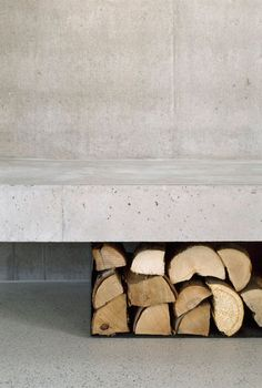 Christine Remensperger, aqui architekturfotografie · Haus B Gray Interior, Interior Styling, Interior And Exterior, Interior Design, Contemporary Architecture, Architecture Details, Interior Architecture, Architectural Digest, Concrete Floors