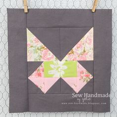 Such a beautiful block... vintage sheets quilting bee butterfly quilt block