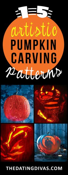 These pumpkin carving patterns are so unique, I can't wait to use them! www.TheDatingDivas.com