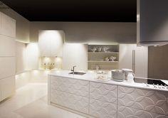 Studio Esse ZDOBIONA WYSPA    Wyspa wcale nie musi być nudna, może stanowić świetny element dekoracyjny.