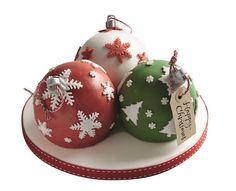 Waitrose Christmas Bauble Cake