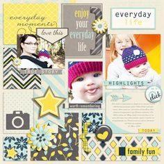 Everyday Life Templates by Digital Scrapbook Ingredients