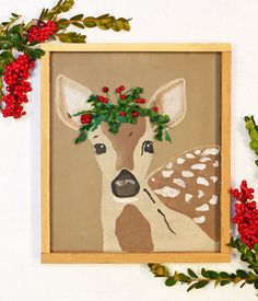 Christmas fawn stenc