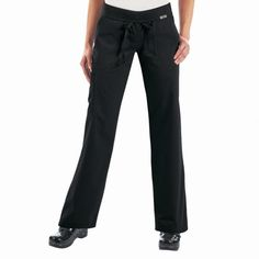 Koi Morgan Scrub Pants in BBlack. If you like your comfort, then these koi Morgan Scrub Pants are perfect. They are ultra soft and super comfy. They have a drawstring waist and a rib-trim waist band that can be worn rolled or unrolled for added comfort. When you wear the koi Morgan Scrub Trousers, it really does feel like you are wearing tracksuit bottoms but with total style. £27.50  #nursescrubs #dentistuniform #nurses #dentists #blackscrubs