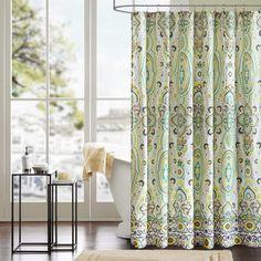 $29.99 Bed Bath & Beyond Intelligent Design Tasia Shower Curtain in Green