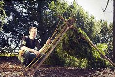 Andrew Hunt, the National Trust's den-building expert will be giving tips to youngsters