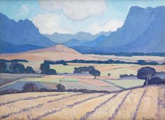 Jacob Hendrik Pierneef (South African, 1886-1957) Wheatfields near Stellenbosch