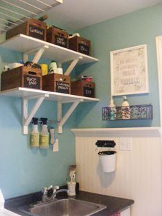 Some great ideas in here! The Complete Guide to Imperfect Homemaking: {OrganizedHome} Day 28: Laundry Room Organization