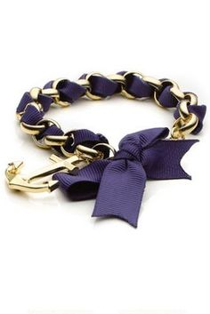 A navy blue bow and an anchor